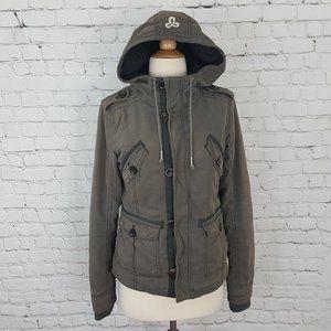 Aritzia TNA Military utility jacket S gray brown